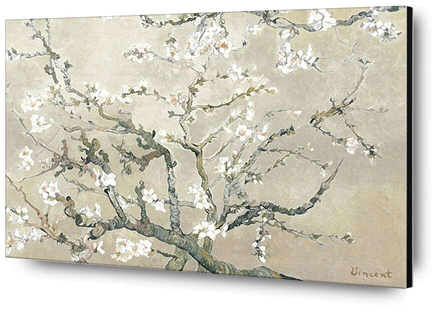 Almond Branches in Bloom, San Remy - VINCENT VAN GOGH 1890 from AUX BEAUX-ARTS, Prodi Art, painting, branch, almond, tree, flower, flowering tree, VINCENT VAN GOGH