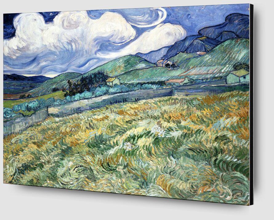 Landscape at Saint-Rémy - VINCENT VAN GOGH 1889 desde AUX BEAUX-ARTS Zoom Alu Dibond Image
