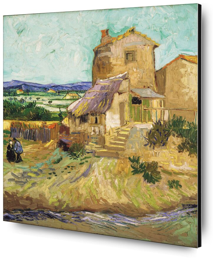 The Old Mill - VINCENT VAN GOGH 1888 from AUX BEAUX-ARTS, Prodi Art, mill, VINCENT VAN GOGH, valley, peasant, meadow, fields