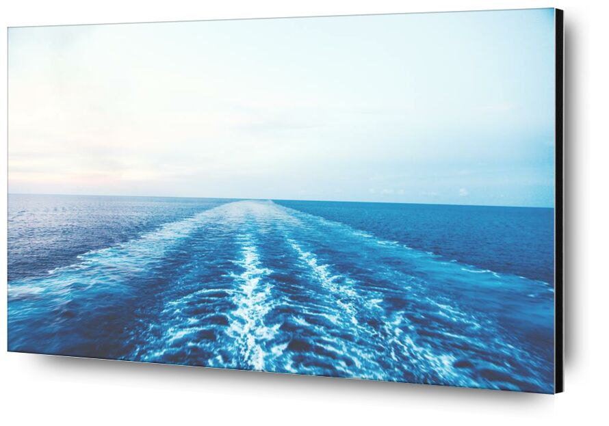 اسلك طريقي from Aliss ART, Prodi Art, wake, sunny, water, sea, ocean, nature, blue