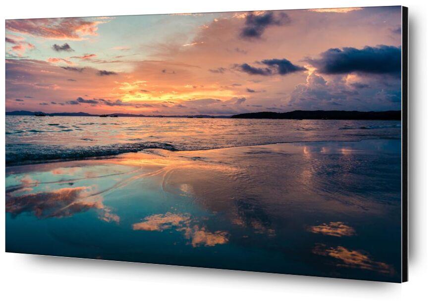 Un moment harmonieux from Aliss ART, Prodi Art, waves, water, travel, sunset, Sun, summer, sky, seashore, seascape, sea, sand, reflection, outdoors, ocean, nice, nature, light, landscape, island, evening, dusk, dawn, clouds, beach