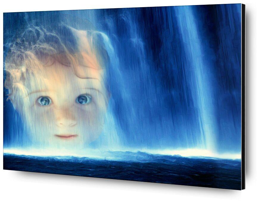 La cascade de Adam da Silva, Prodi Art, eau, bleu, visage, enfant, bébé, Cascade, yeux, bouche