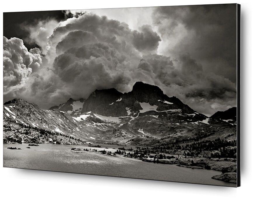 Garnet Lake, Californie, ANSEL ADAMS de AUX BEAUX-ARTS, Prodi Art, tempête, amérique, états-unis, californie, ANSEL ADAMS, Lac, montagnes, nuages, forêt, des arbres, arbre