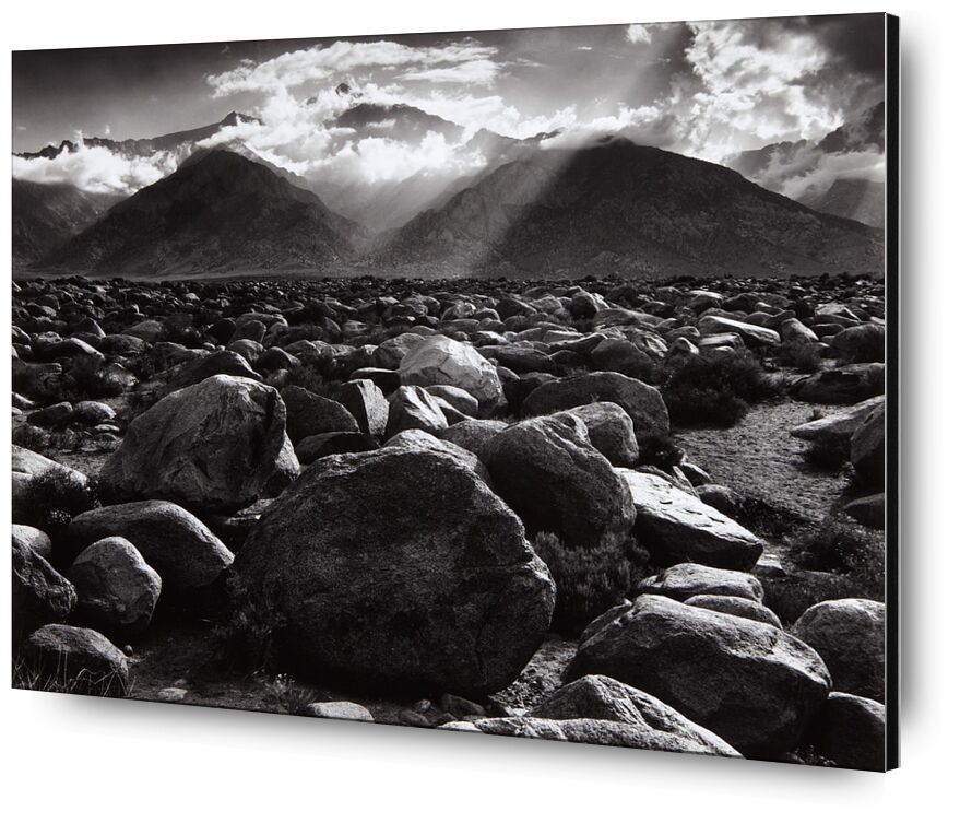 Williamson, ANSEL ADAMS from Aux Beaux-Arts, Prodi Art, ANSEL ADAMS, Sun, black-and-white, mountains, cloud, ray of sunshine, clouds, stone, stone desert, Pierre
