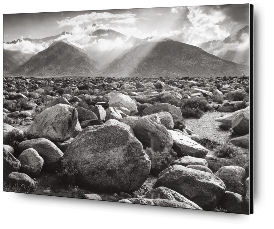 Williamson, ANSEL ADAMS desde AUX BEAUX-ARTS, Prodi Art, Piedra, desierto de piedra, piedra, nubes, rayo de sol, nube, montañas, blanco y negro, sol, ANSEL ADAMS