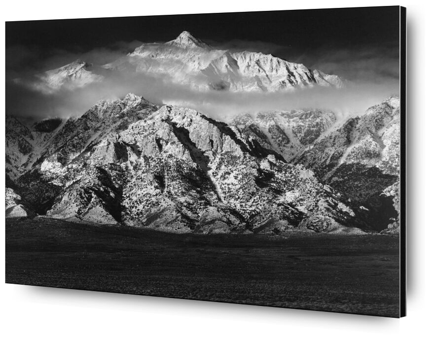 Mountain Williamson, Sierra Nevada - ANSEL ADAMS 1949 from AUX BEAUX-ARTS, Prodi Art, mountains, sky, clouds, meadow, black-and-white, ANSEL ADAMS