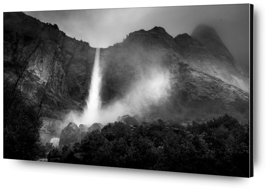 The fountain, New Mexico, ANSEL ADAMS 1956 from AUX BEAUX-ARTS, Prodi Art, mountains, black-and-white, tree, forest, sky, rain, ANSEL ADAMS, fountain