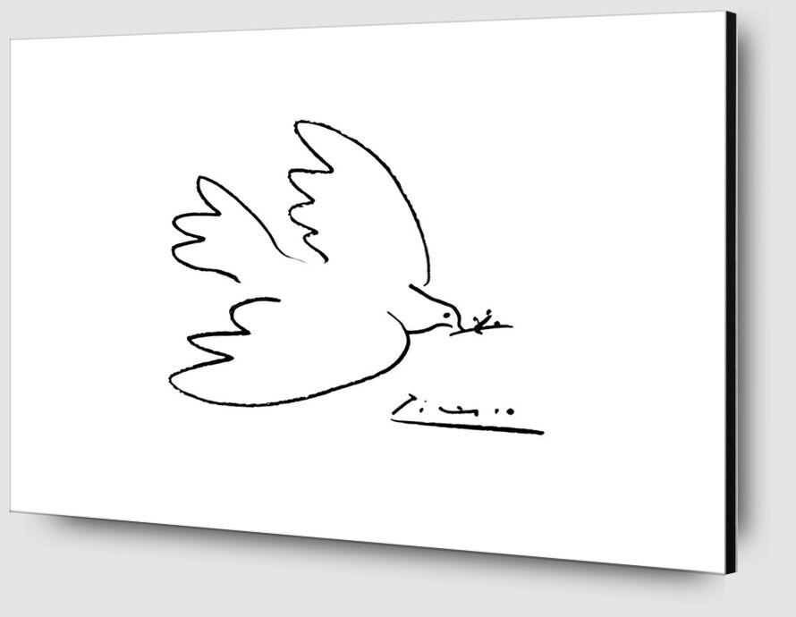 La colombe de paix - PABLO PICASSO de Aux Beaux-Arts Zoom Alu Dibond Image