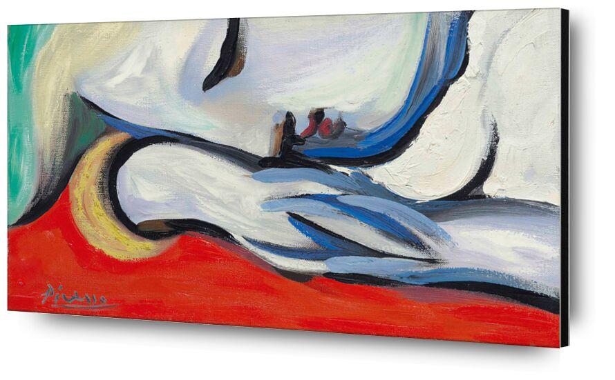 Le repos - PABLO PICASSO de Aux Beaux-Arts, Prodi Art, repos, blonde, peinture, femme, portrait, rouge, PABLO PICASSO, dormir