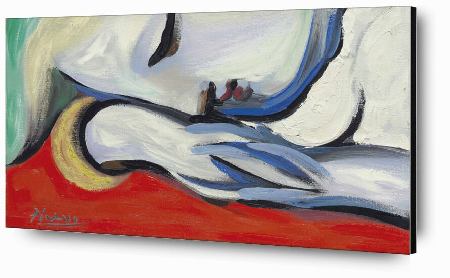 Rest - PABLO PICASSO desde AUX BEAUX-ARTS, Prodi Art, dormir, PABLO PICASSO, rojo, retrato, mujer, pintura, rubia, descansando