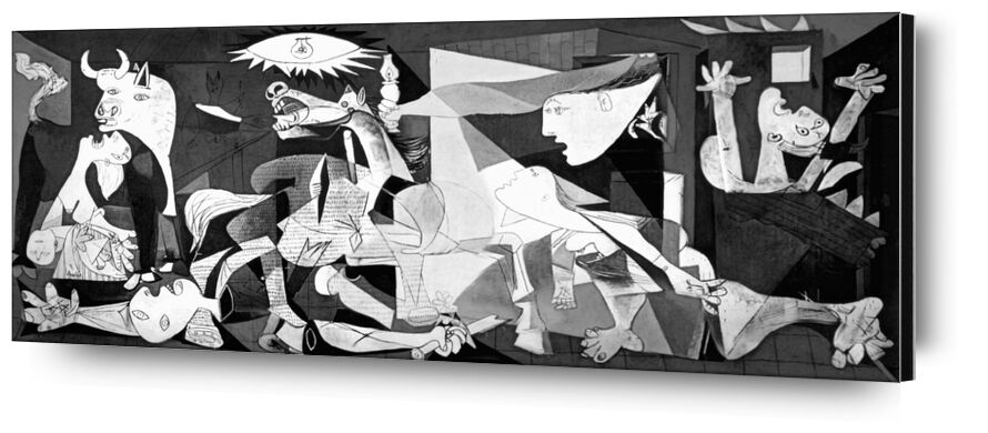 Guernica - PABLO PICASSO from AUX BEAUX-ARTS, Prodi Art, drawing, pencil drawing, black-and-white, PABLO PICASSO