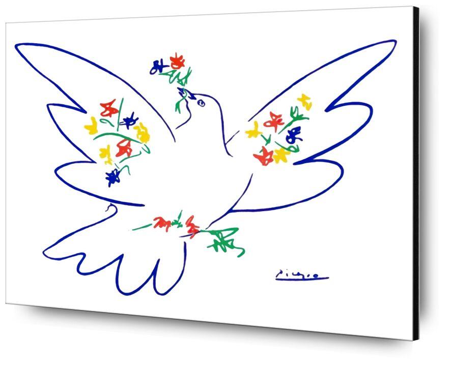 La colombe de paix - PABLO PICASSO de Aux Beaux-Arts, Prodi Art, colombe, paix, amour, dessin, dessin au crayon, PABLO PICASSO