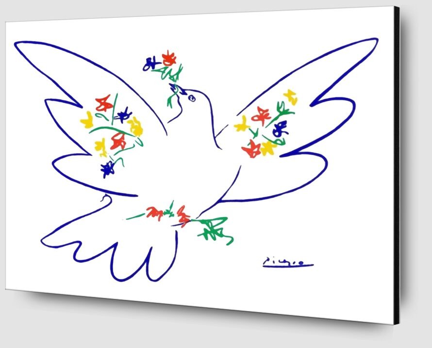 Dove of peace - PABLO PICASSO from AUX BEAUX-ARTS Zoom Alu Dibond Image
