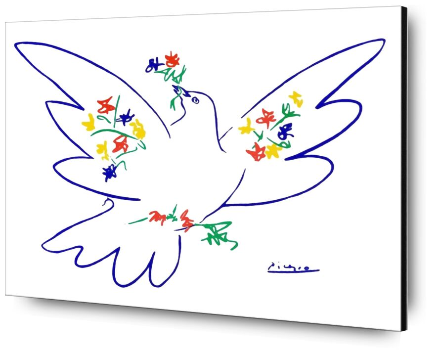 Dove of peace - PABLO PICASSO from AUX BEAUX-ARTS, Prodi Art, PABLO PICASSO, pencil drawing, drawing, love, peace, dove