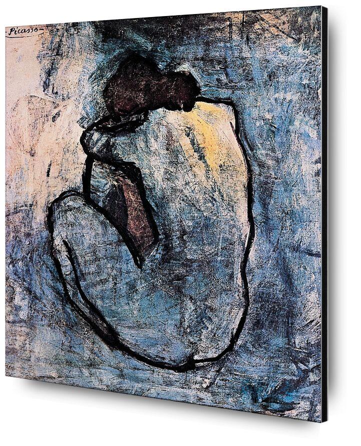 Blue nude - PABLO PICASSO from AUX BEAUX-ARTS, Prodi Art, naked, blue, painting, woman, portrait, PABLO PICASSO