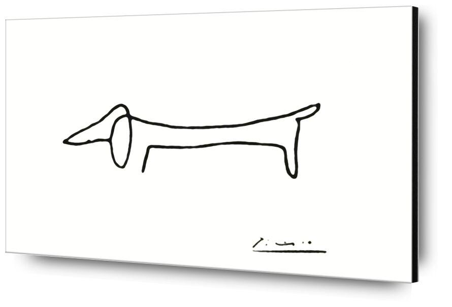 Le chien - PABLO PICASSO de Aux Beaux-Arts, Prodi Art, une ligne, chien, PABLO PICASSO, noir et blanc, ligne, dessin au crayon, dessin