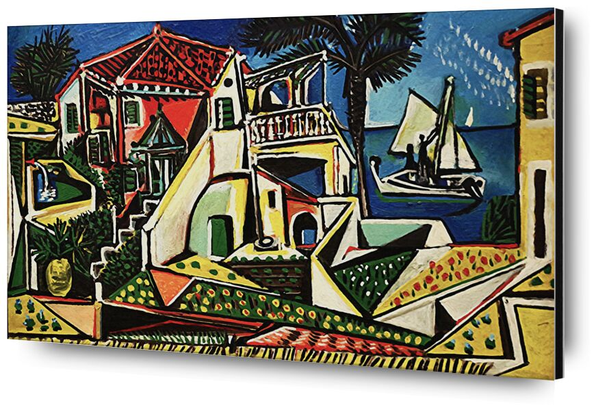 Mediterranean Landscape - PABLO PICASSO from Aux Beaux-Arts, Prodi Art, PABLO PICASSO, city, village, sea, beach, holiday, Sun, sea ​​side, shell