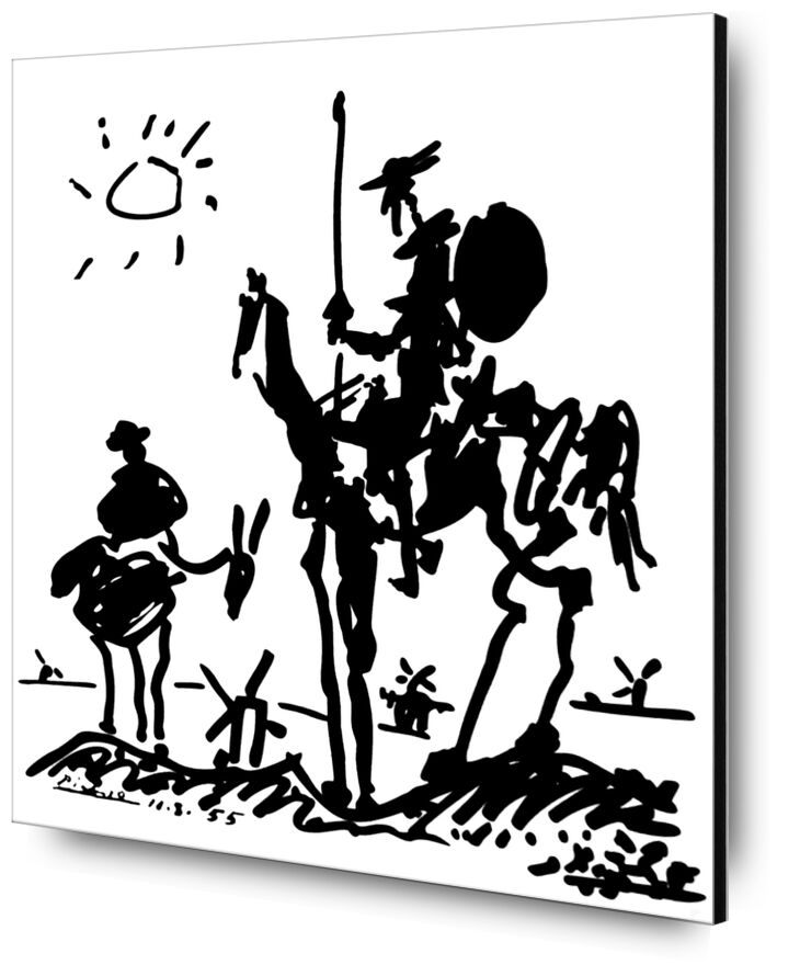 Don Quixote - PABLO PICASSO from Aux Beaux-Arts, Prodi Art, Don Quixote, donkey, PABLO PICASSO, Sun, pencil drawing, drawing
