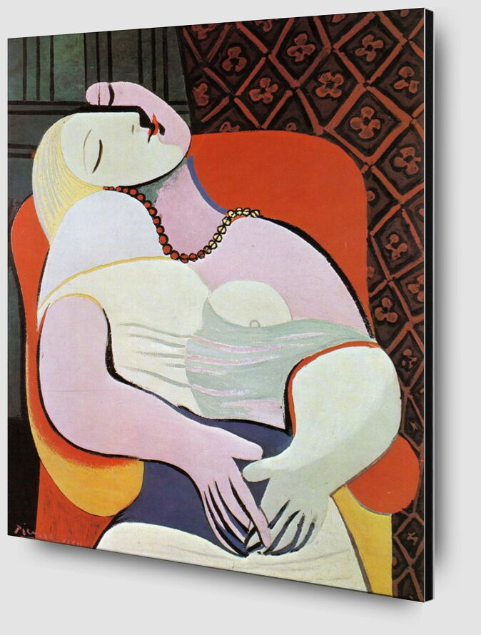 The dream - PABLO PICASSO from AUX BEAUX-ARTS Zoom Alu Dibond Image