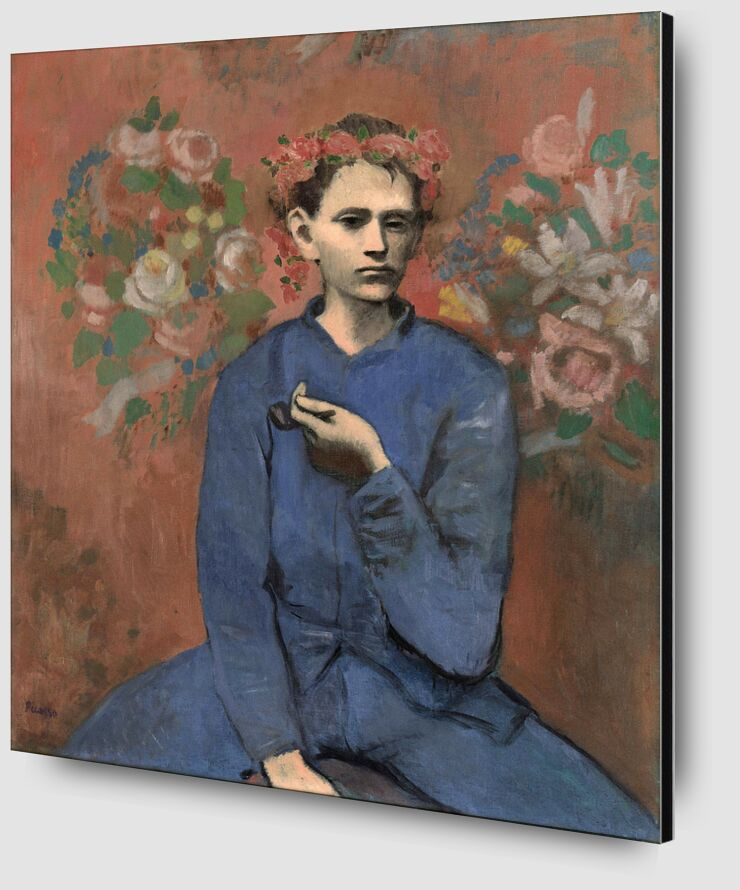 Boy with pipe - PABLO PICASSO from Aux Beaux-Arts Zoom Alu Dibond Image