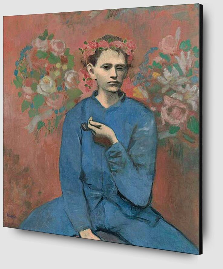 Boy with pipe - PABLO PICASSO desde AUX BEAUX-ARTS Zoom Alu Dibond Image