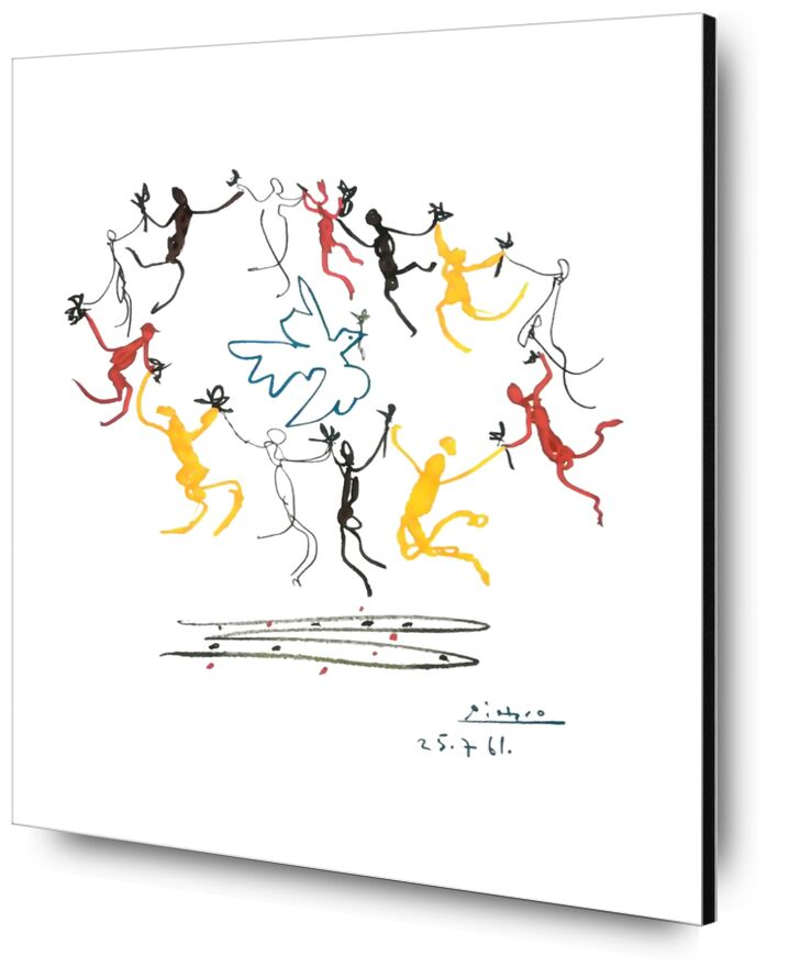 The dance of youth - PABLO PICASSO from Aux Beaux-Arts, Prodi Art, pencil drawing, drawing, young, youth, children, dove, peace, PABLO PICASSO, dance,