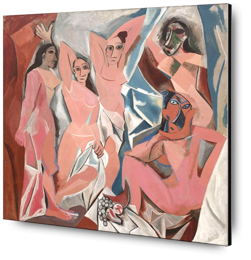 The Ladies of Avignon - PABLO PICASSO from AUX BEAUX-ARTS, Prodi Art, board, women, Avignon, PABLO PICASSO, abstract, painting, drawing, France