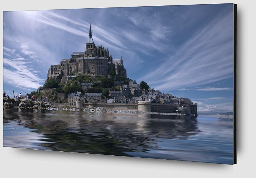 Le Mont-Saint-Michel from Aliss ART Zoom Alu Dibond Image