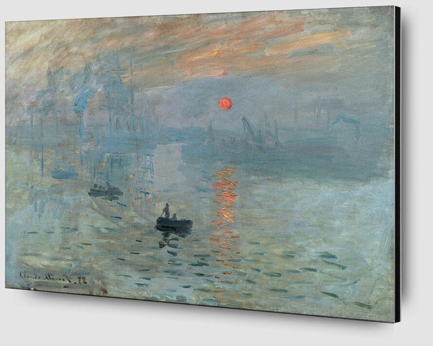 Impression, Sunrise 1872 - CLAUDE MONET from AUX BEAUX-ARTS Zoom Alu Dibond Image