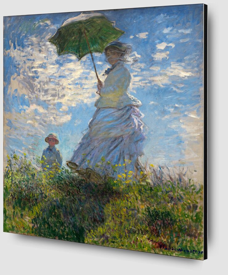 The Stroll - CLAUDE MONET 1875 from Aux Beaux-Arts Zoom Alu Dibond Image
