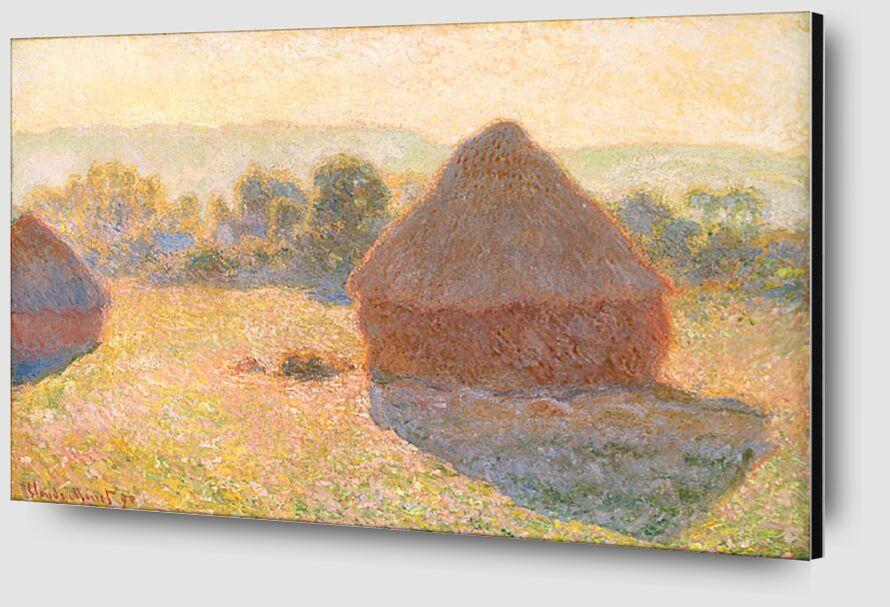 Meules, milieu du jour - CLAUDE MONET 1891 de AUX BEAUX-ARTS Zoom Alu Dibond Image