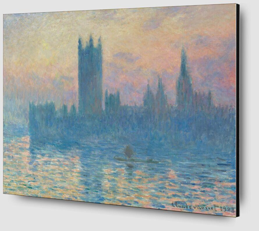 Houses of Parliament, London - CLAUDE MONET 1905 from AUX BEAUX-ARTS Zoom Alu Dibond Image