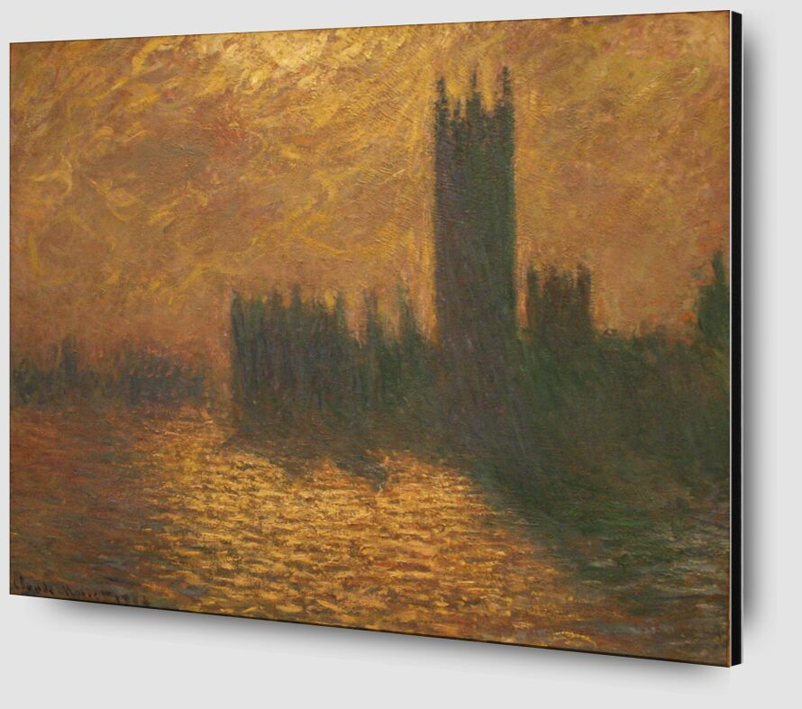Houses of Parliament, stormy sky - CLAUDE MONET 1905 from AUX BEAUX-ARTS Zoom Alu Dibond Image