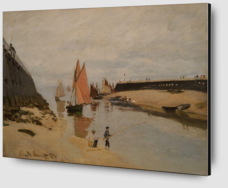 The harbour at Trouville - CLAUDE MONET 1870 desde AUX BEAUX-ARTS Zoom Alu Dibond Image