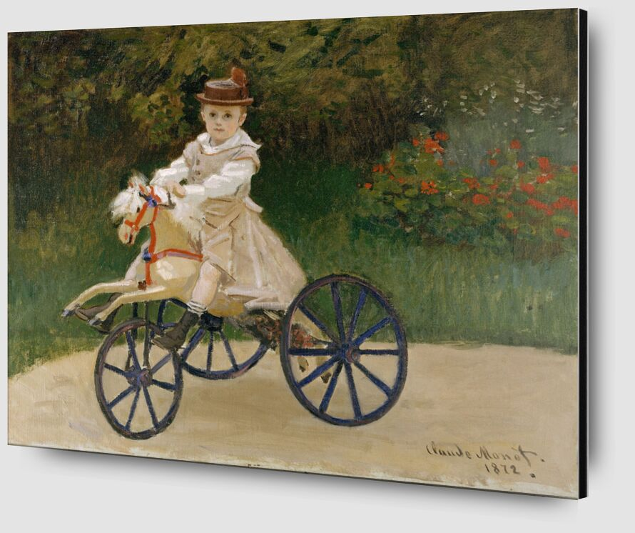 Jean Monet on his Hobby Horse  - CLAUDE MONET 1872 from AUX BEAUX-ARTS Zoom Alu Dibond Image