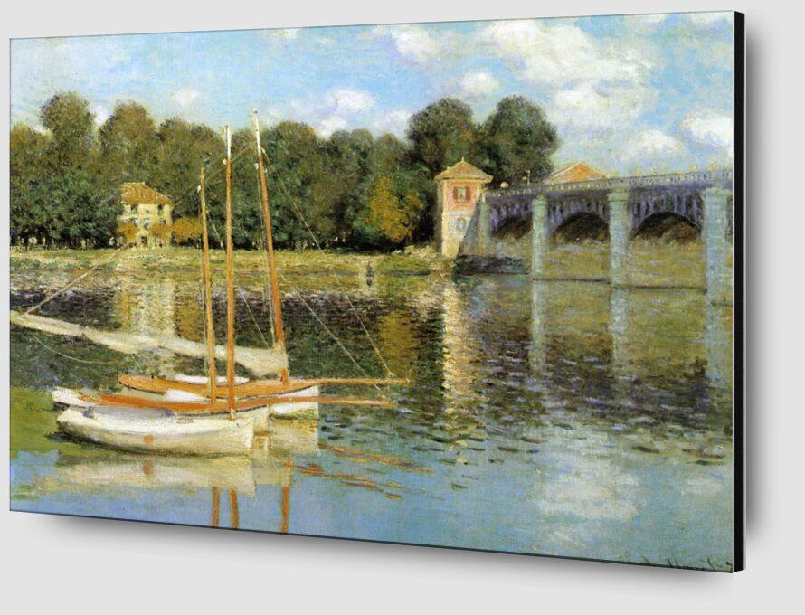 Le pont d'Argenteuil - CLAUDE MONET 1874 de Aux Beaux-Arts Zoom Alu Dibond Image