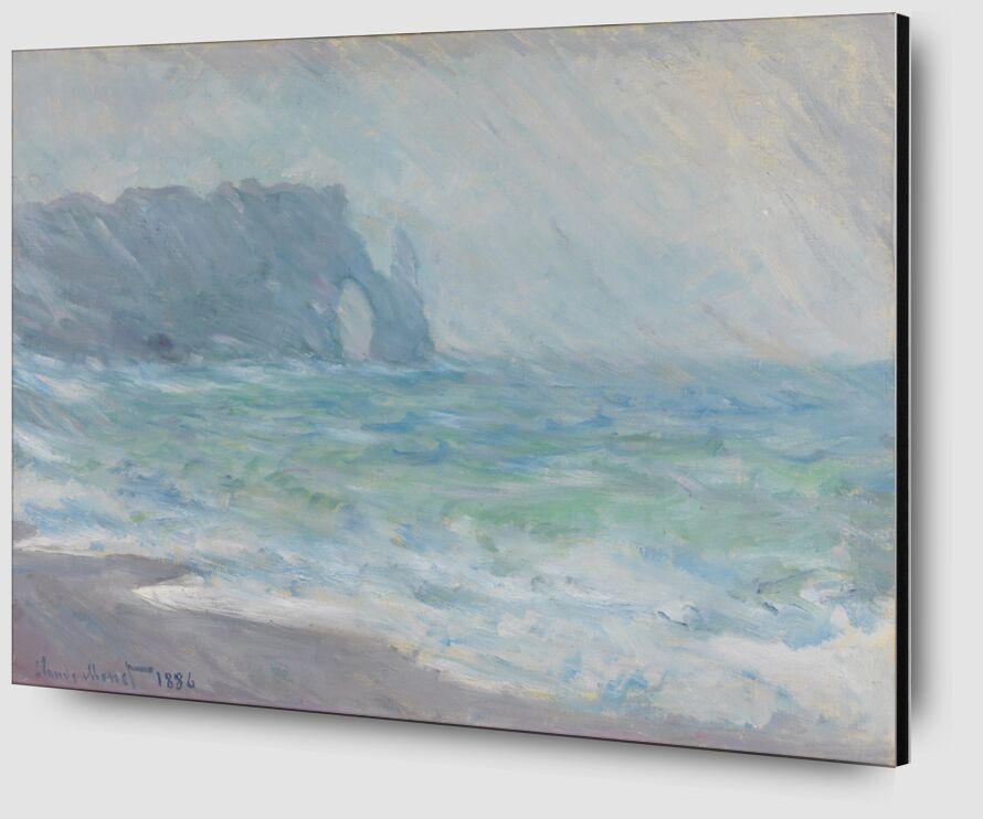 Étretat in the rain - CLAUDE MONET 1886 desde AUX BEAUX-ARTS Zoom Alu Dibond Image