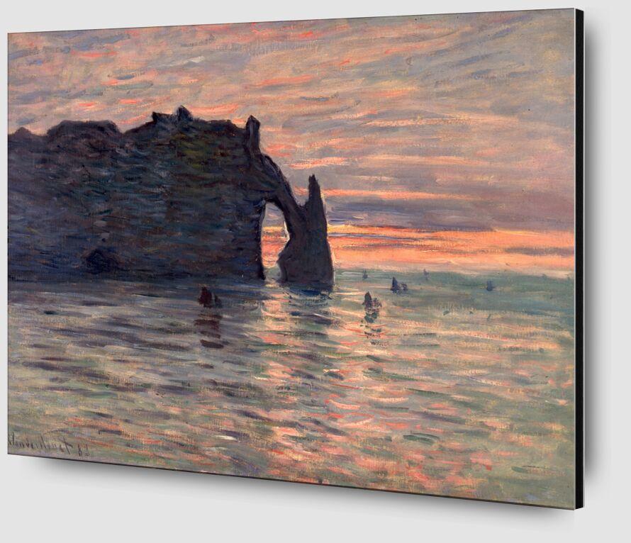Sunset in Etretat - CLAUDE MONET 1883 desde AUX BEAUX-ARTS Zoom Alu Dibond Image