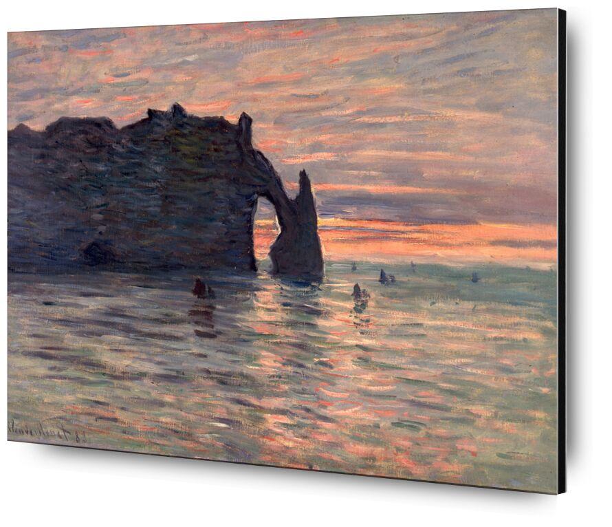 Sunset in Etretat - CLAUDE MONET 1883 from AUX BEAUX-ARTS, Prodi Art, CLAUDE MONET, sunset, holiday, Sun, beach, sea