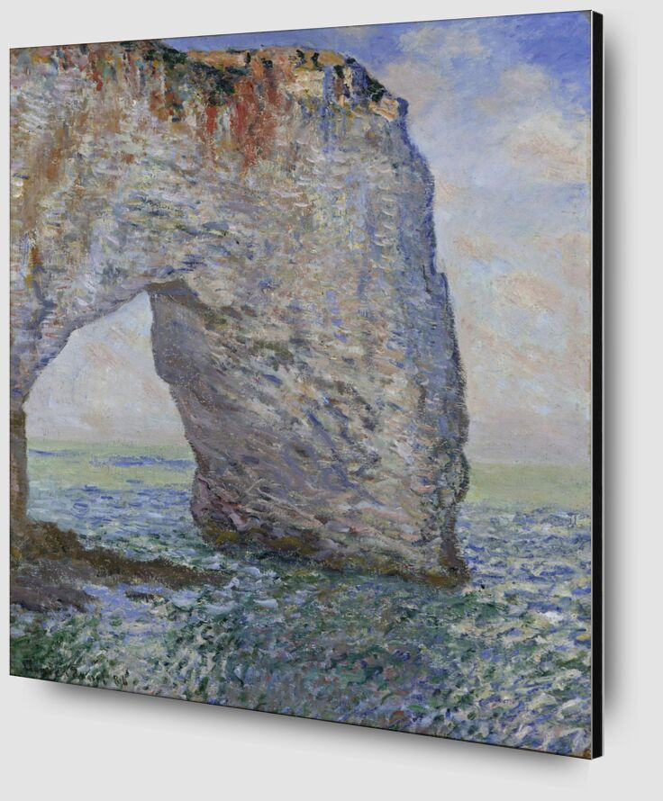 The Manneporte near Étretat - CLAUDE MONET 1886 from AUX BEAUX-ARTS Zoom Alu Dibond Image