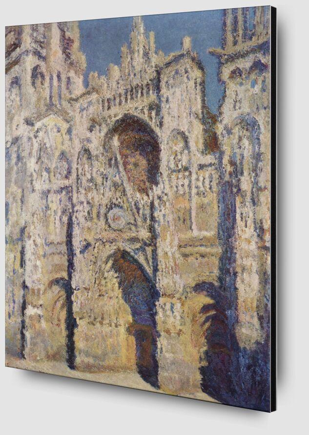 Rouen Cathedral, West Facade, Sunlight - CLAUDE MONET 1894 desde AUX BEAUX-ARTS Zoom Alu Dibond Image