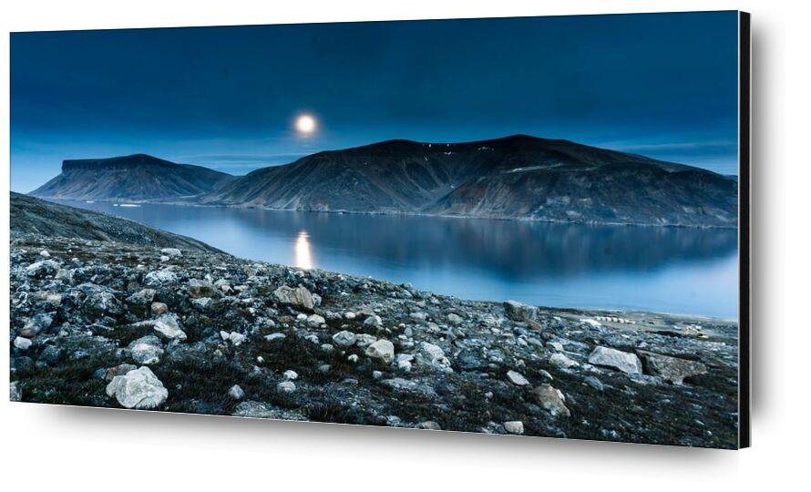 انبهار from Aliss ART, Prodi Art, lake, landscape, Moon, mountain, nature, outdoors, rocks, scenic, sky, water