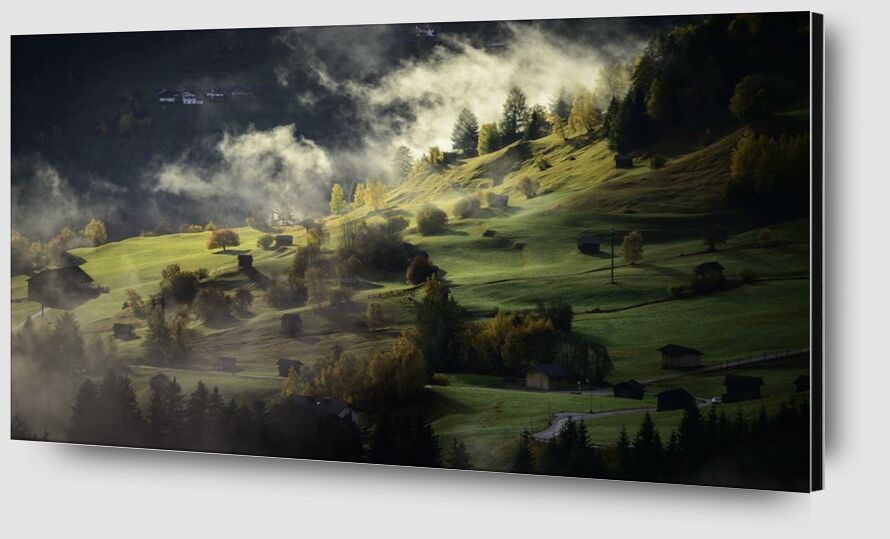 Fog on the hill from Aliss ART Zoom Alu Dibond Image