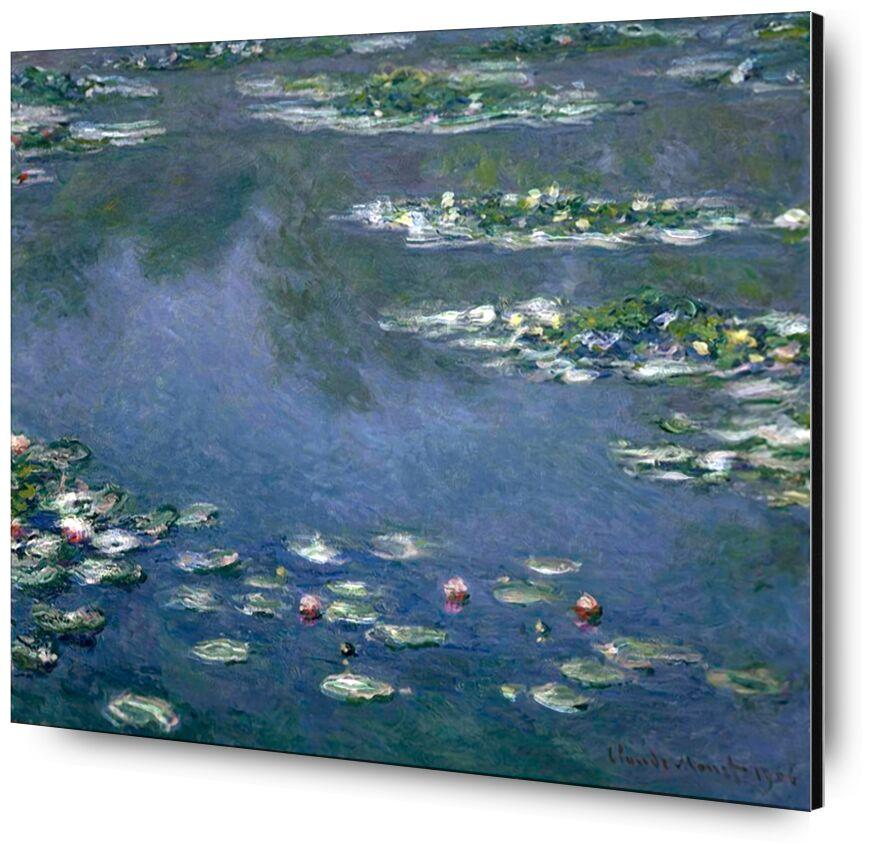 Water Lilies - CLAUDE MONET from Aux Beaux-Arts, Prodi Art, , nymphéas, CLAUDE MONET, beach, holiday, painting, nature, green, blue, water, lake