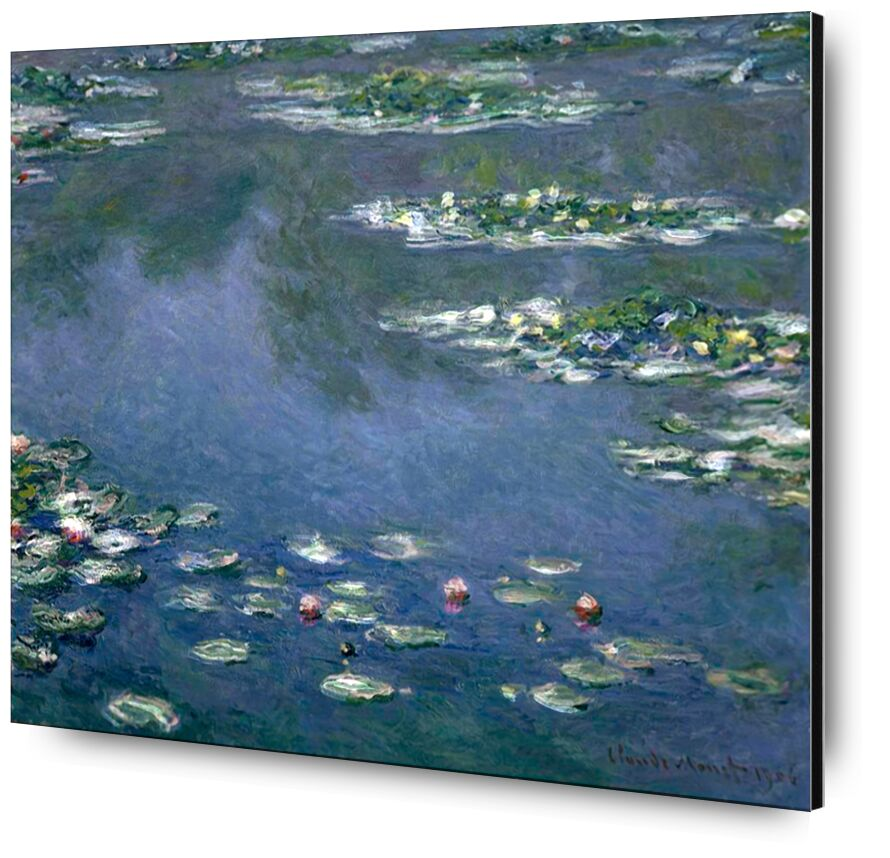 Water Lilies - CLAUDE MONET from AUX BEAUX-ARTS, Prodi Art, lake, water, blue, green, nature, painting, holiday, beach, CLAUDE MONET, nymphéas, marre