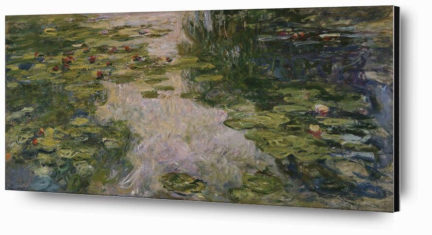 Les nymphéas - CLAUDE MONET - 1917 de Aux Beaux-Arts, Prodi Art, nymphéas, nature, Lac, plage, vacances, eau, vert, CLAUDE MONET, bord de lac