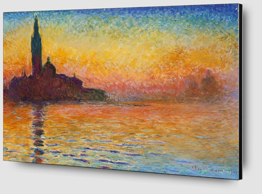San Giorgio Maggiore at Dusk - CLAUDE MONET from Aux Beaux-Arts Zoom Alu Dibond Image