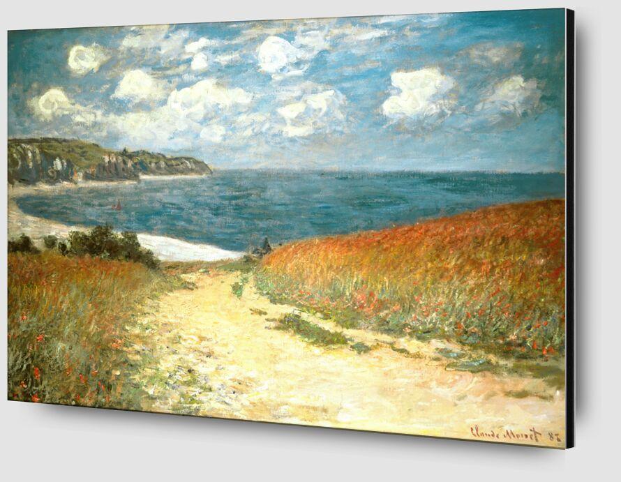 Chemin dans les blés à Pourville - CLAUDE MONET - 1882 de Aux Beaux-Arts Zoom Alu Dibond Image