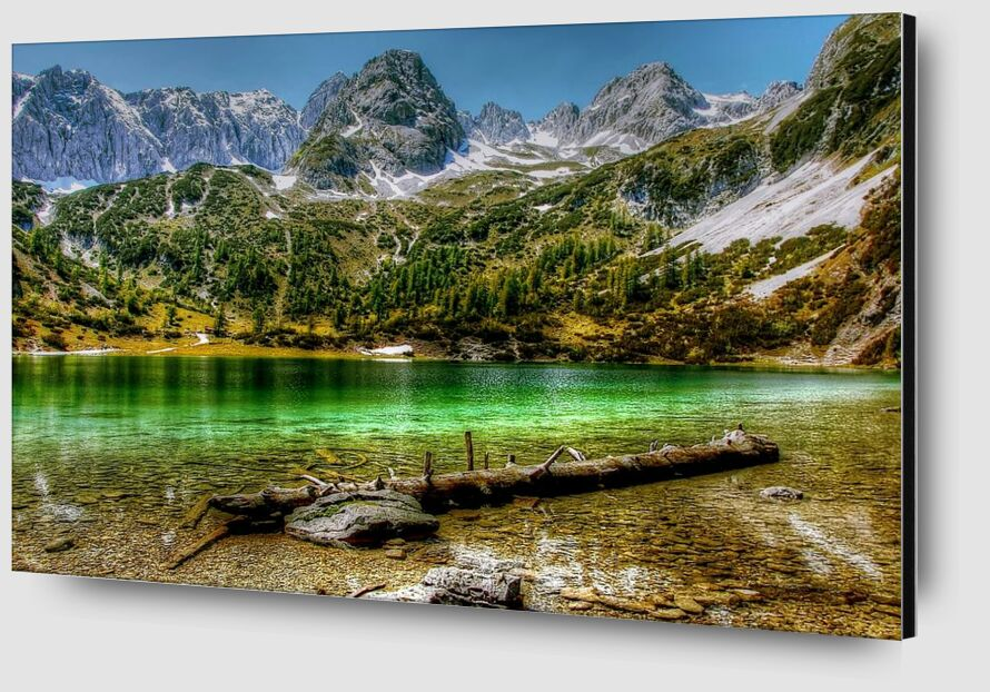Green lake from Aliss ART Zoom Alu Dibond Image