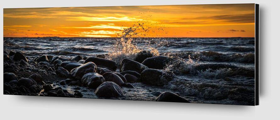 Rochers sur mer de Aliss ART Zoom Alu Dibond Image